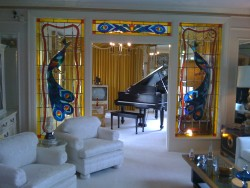 The music room at Graceland.